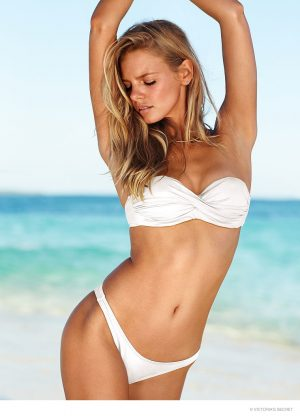 Marloes Horst is a Beach Babe in Victoria's Secret Swim Photos