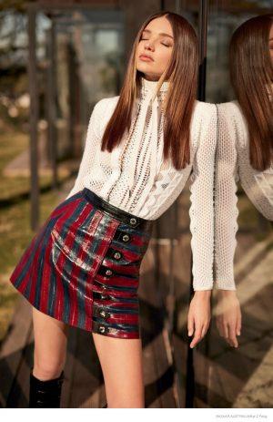 Miranda Kerr Flaunts Her Legs in 70s Style Louis Vuitton for Bazaar Australia