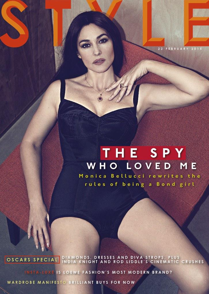 """Spectre"" Star Monica Bellucci Covers Sunday Times Style in Dolce & Gabbana"