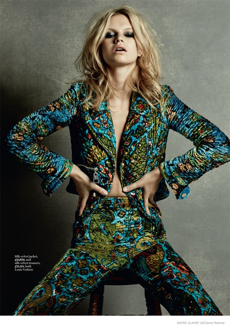 Nadine Leopold Is A 70s Dream In Fashion Story For Marie Claire Uk