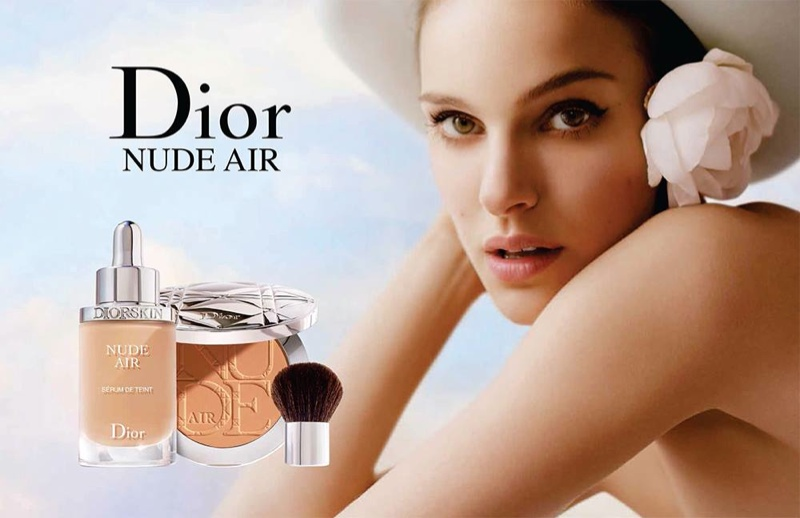 Natalie Portman for Diorskin Nude Air Makeup Campaign (2015)