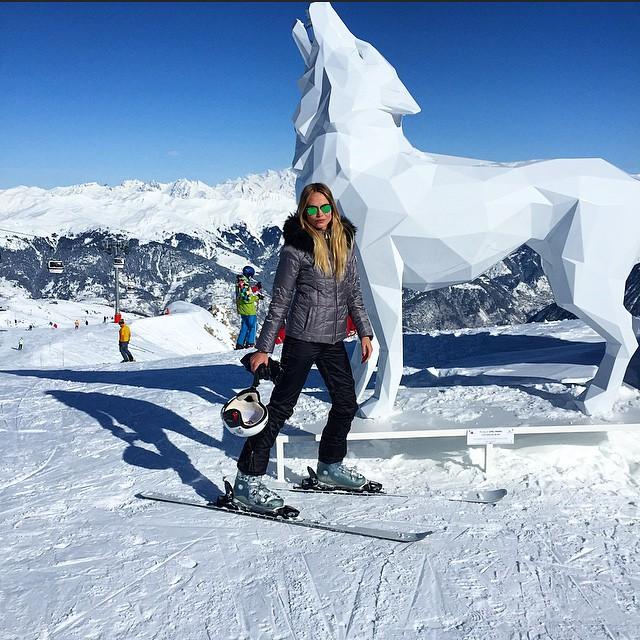 Natasha Poly poses in the snow