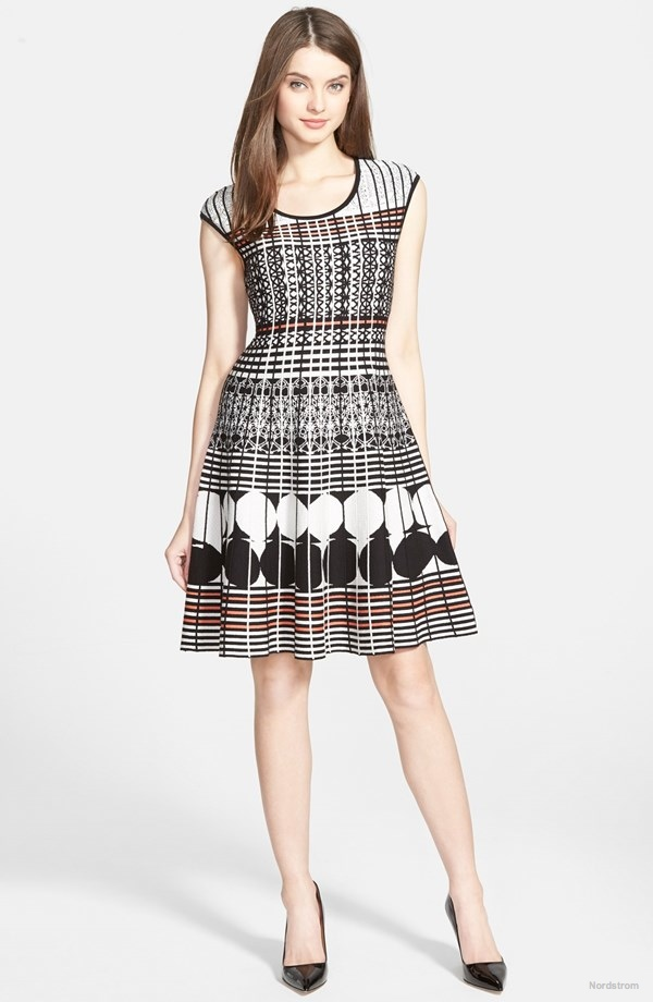 NIC+ZOE 'Circle Punched' Knit Fit & Flare Twirl Dress available for $218.00