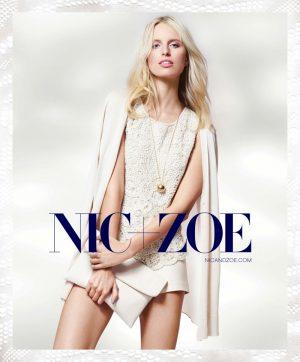Karolina Kurkova Dons Soft Knits in NIC+ZOE Spring 2015 Ads
