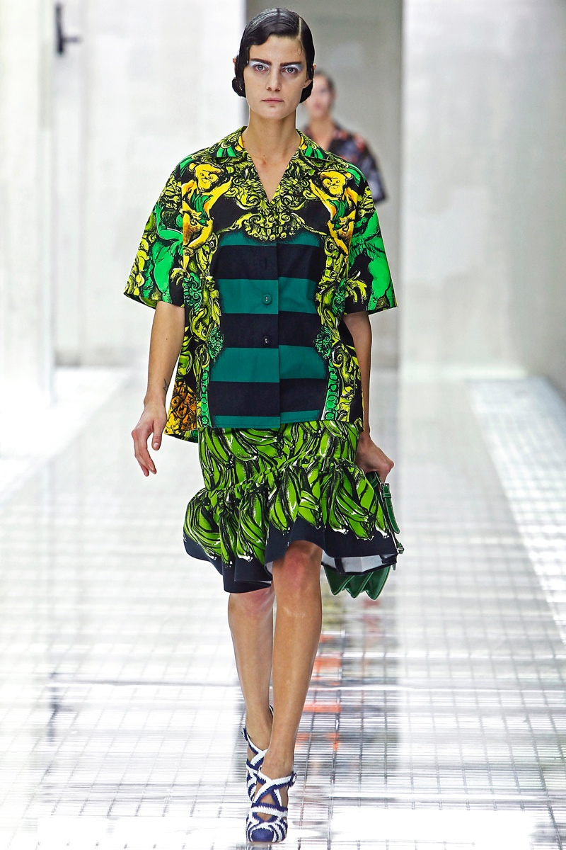 Prada's spring 2011 show had shades of Josephine Baker's 1920s style with banana motifs and the slicked back finger waves