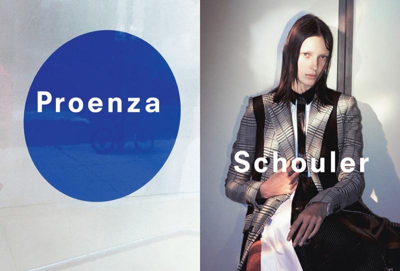 Julia Bergshoeff Returns for Proenza Schouler's Spring 2015 Campaign
