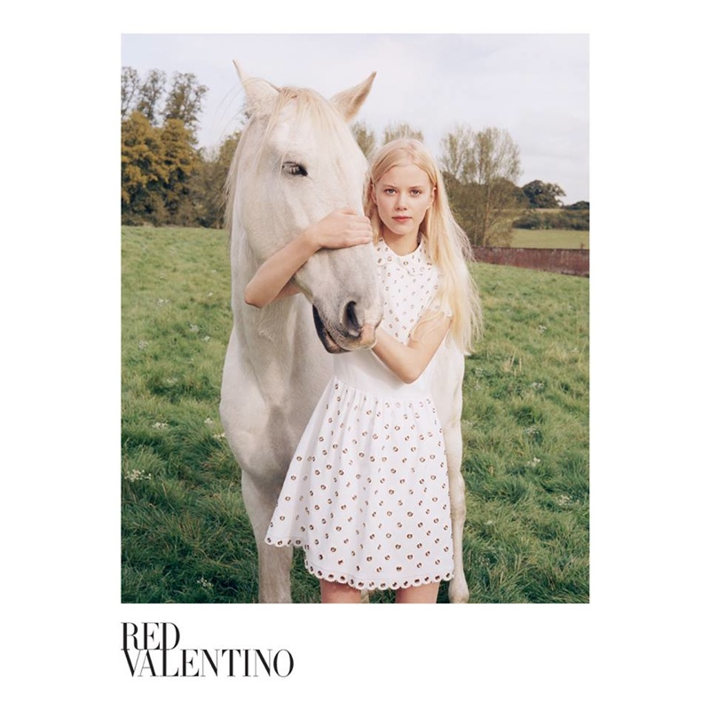 Red Valentino Features Dreamy Styles in Its Spring 2015 Campaign