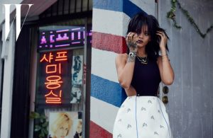 Rihanna Wears Dior Spring Looks in W Korea Photos