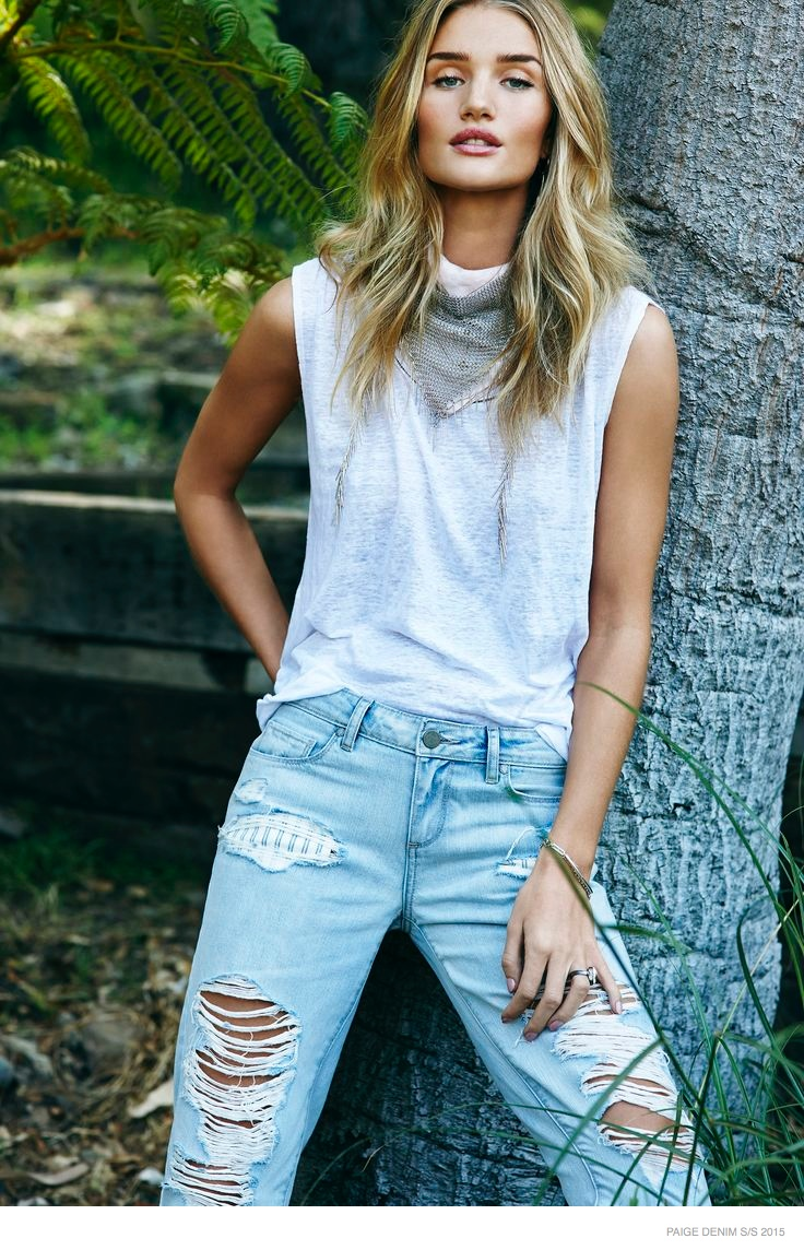 Rosie Huntington Whiteley Gets Casual In Paige Denim Spring 2015 Campaign