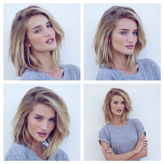 Rosie Huntington Whiteley Debuted A Lob Hairstyle In February 2017