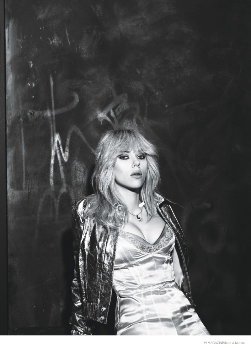Scarlett Johansson Channels Blondie for W Magazine & Talks Being a New Mom