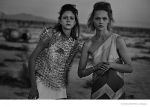 Sasha Pivovarova + Natalie Westling Are Sci-Fi Chic in Peter Lindbergh Story for W
