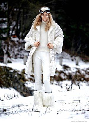 Henrieta M Sports Snow Day Fashion for Bazaar Czech by Benedikt Renc