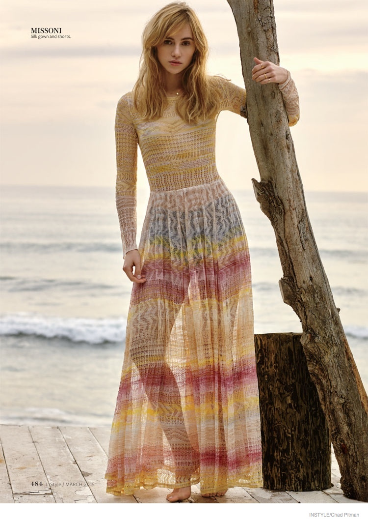 Suki Waterhouse Wears Bohemian Looks For Instyle Editorial