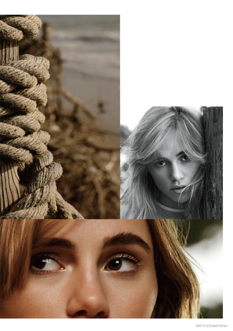 A juxtaposition of images show off Suki's beauty.