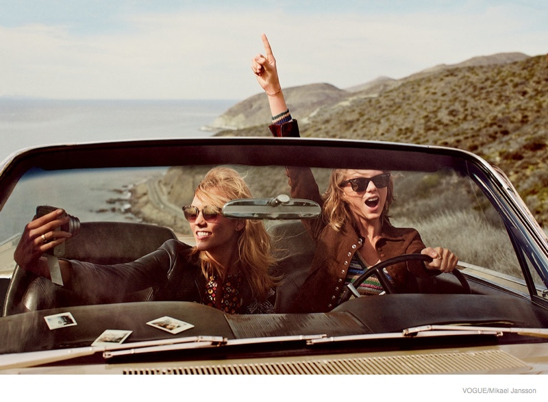 Friends Taylor Swift & Karlie Kloss Land Vogue March 2015 Cover