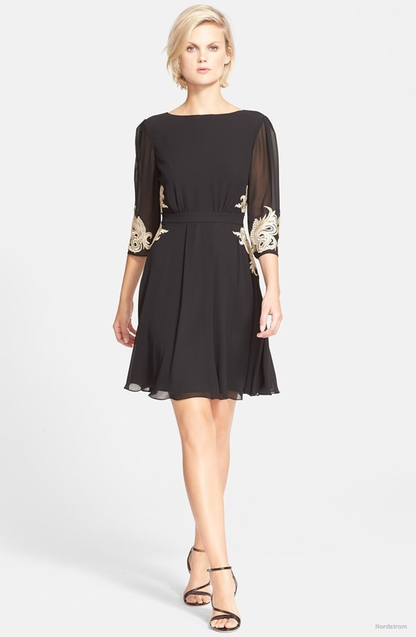 Ted Baker London 'Gaenor' Embroidered Fit & Flare Dress available for $295.00
