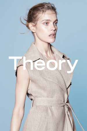 Natalia Vodianova Models Minimal Style for Theory Spring '15 Ads