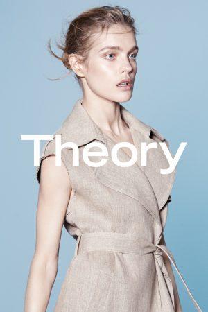 Natalia Vodianova Models Minimal Style for Theory Spring '15 Ads