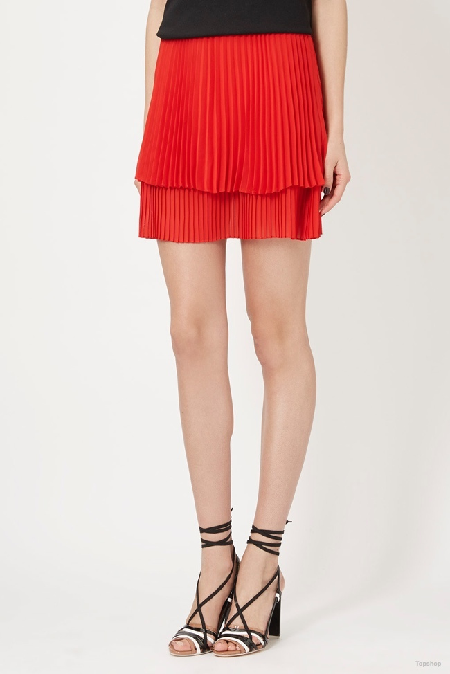 Topshop Unique Sunray Pleated Skirt