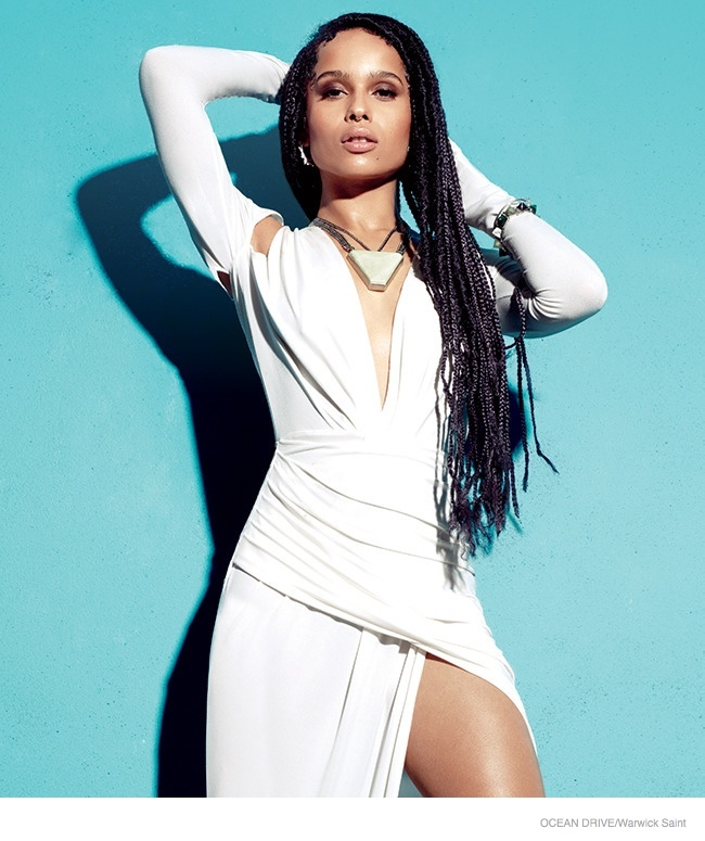 Zoe Kravitz rocks a Philipp Plein dress in white