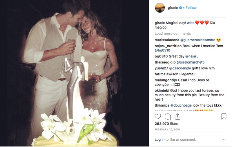 FLASHBACK: Gisele Bundchen looks in love while wearing her wedding dress in 2009. The supermodel gave the first and only look at her wedding look with Tom Brady on Instagram. Photo: Instagram/gisele
