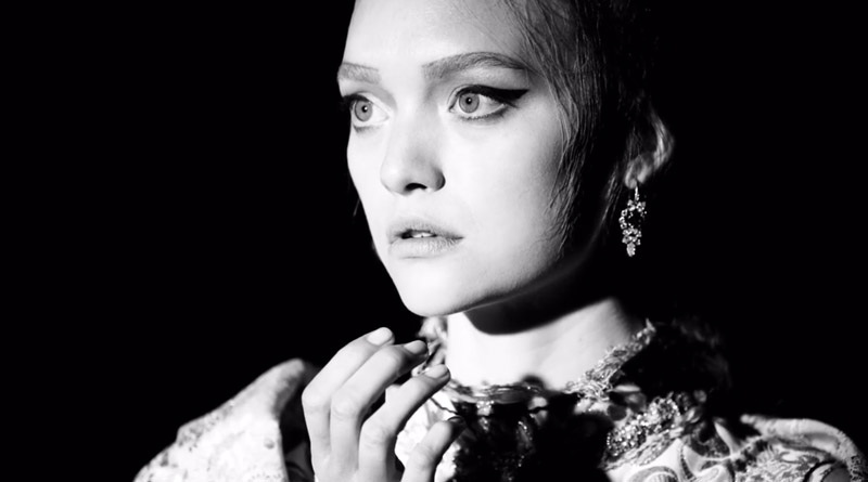 Gemma Ward in Prada Spring/Summer 2015 Campaign Backstage video.