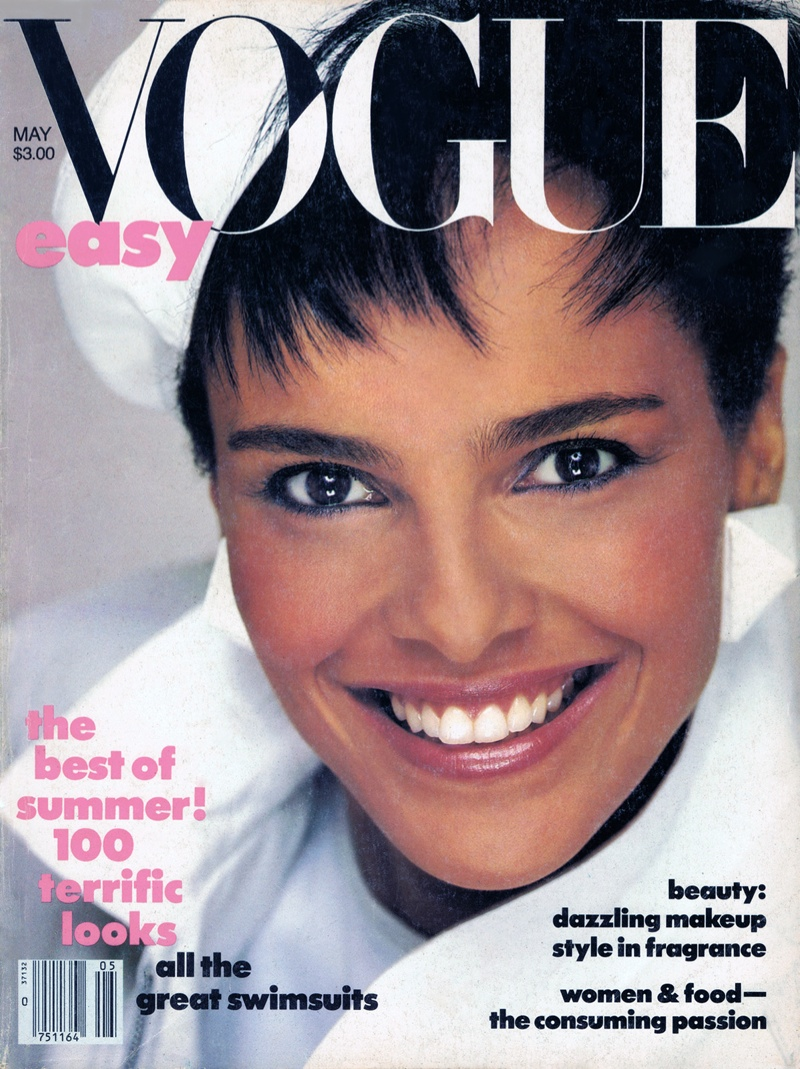 Shari Belafonte Harper on the May 1985 cover of Vogue. The black model had five Vogue covers in the 1980s.