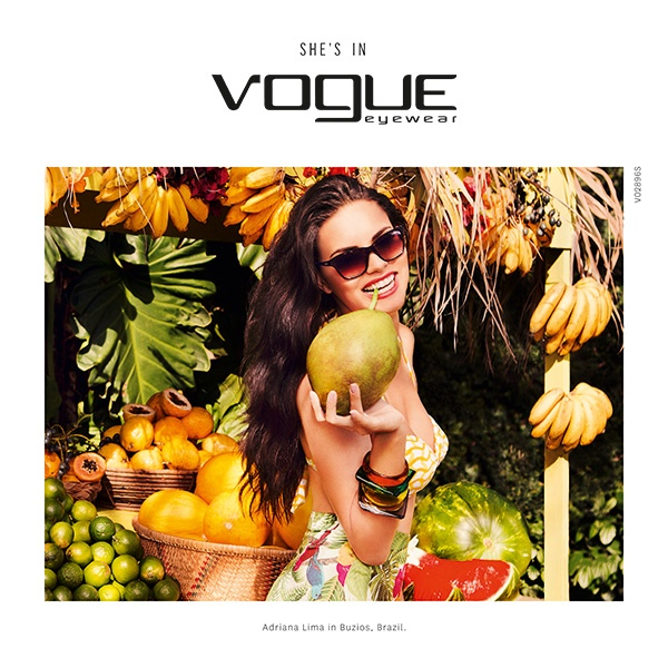 Adriana Lima stars in the spring-summer 2015 campaign from Vogue Eyewear.
