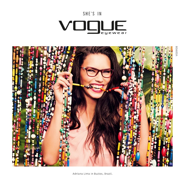 Adriana Lima in Vogue Eyewear Spring 2015