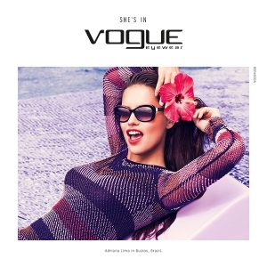 Adriana Lima Wows in Vogue Eyewear Spring 2015 Campaign