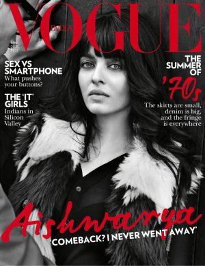 Aishwarya Rai is 70s Chic on Vogue India Cover