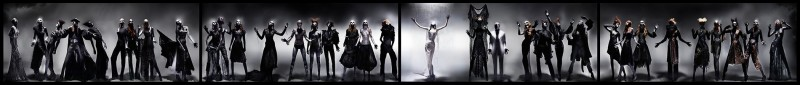 'Black' Alexander McQueen tableaux by Nick Knight