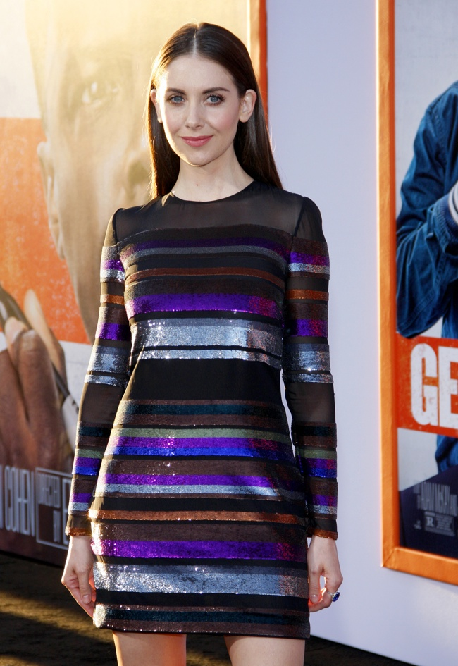 Alison Brie wears an Emilio Pucci dress at the 'Get Hard' LA premiere. Photo: David Gabber/PRPhotos.com