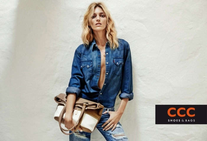 Clad in denim, Anja turns up the heat in these images.