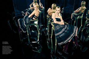 Anne V Models Dark & Glamorous Looks for Latest Shoot