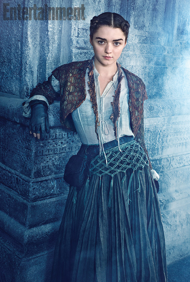 Arya Stark gets a ladylike makeover for season 5 of 'Game of Thrones'. Photo: Entertainment Weekly/Marc Hom.