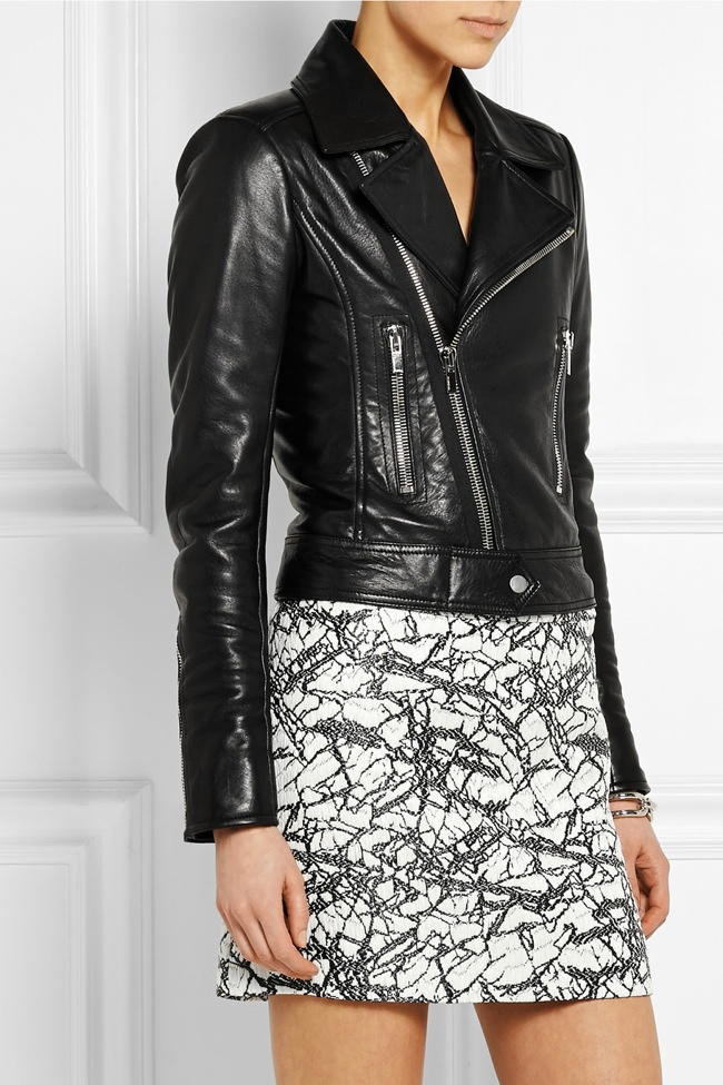 Balenciaga Leather Biker Jacket available for $2,745