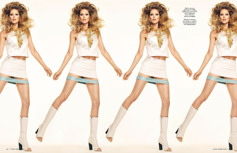 Doutzen Kroes Channels 1960s, 'Barbarella' Looks for Vogue Netherlands Shoot