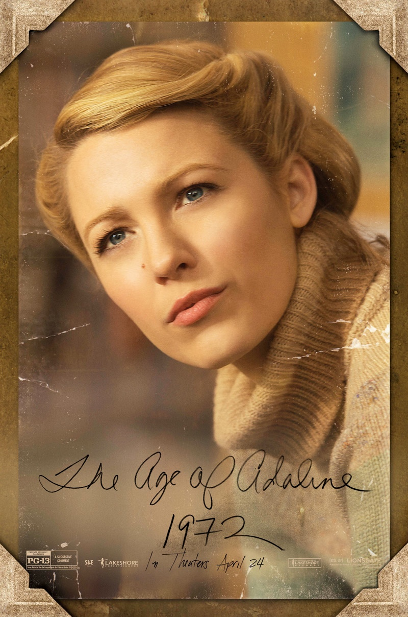 Blake Lively Style Retro Looks Age Adaline Posters