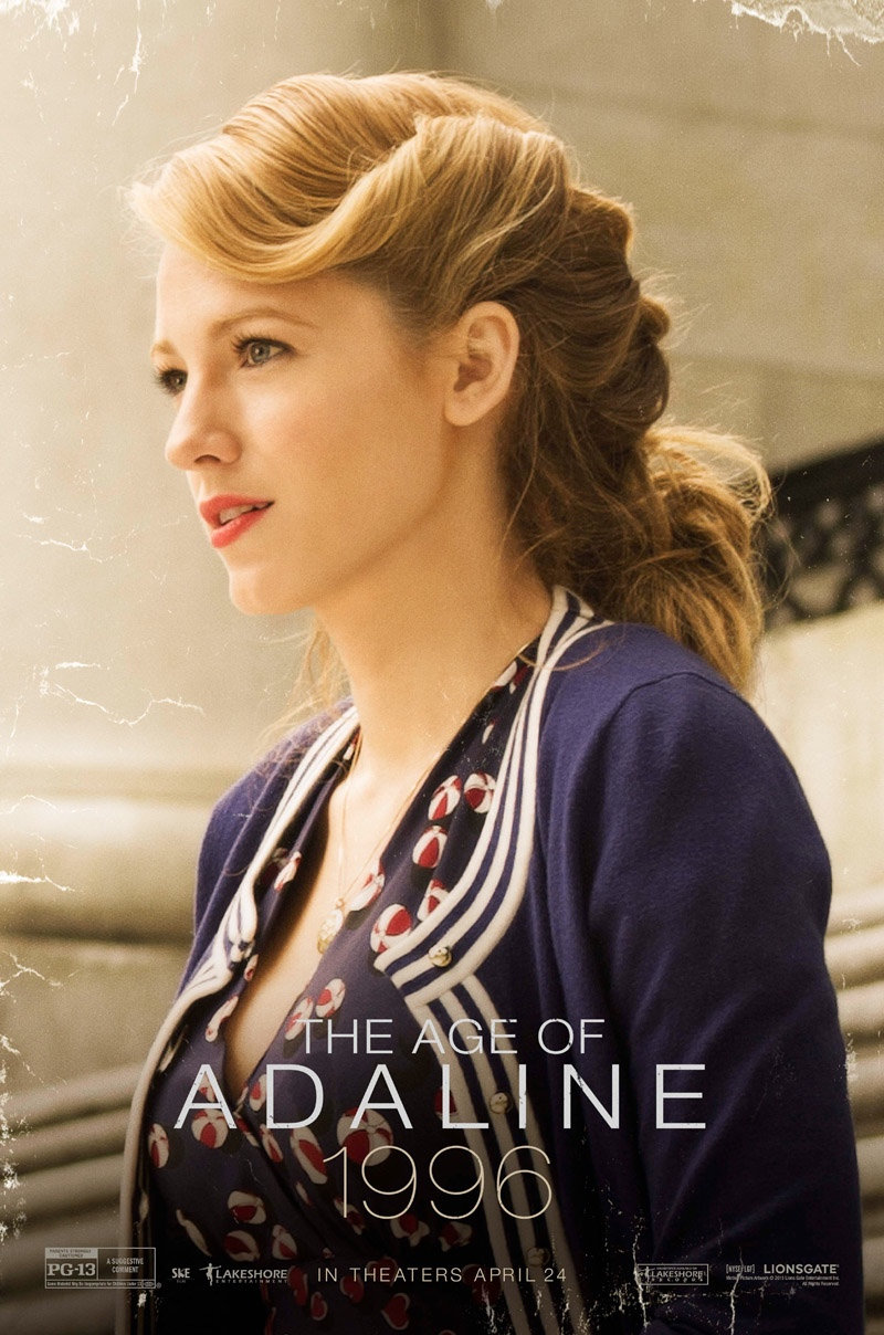 Blake Lively on  'The Age of Adaline' movie poster.