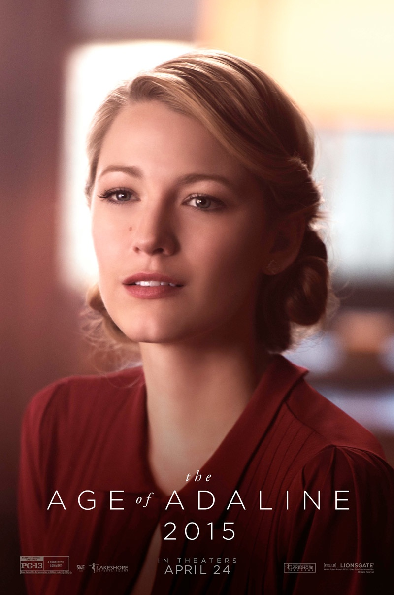 Blake Lively has not aged in nearly eight decades for her role as the titular character in 'The Age of Adaline'.
