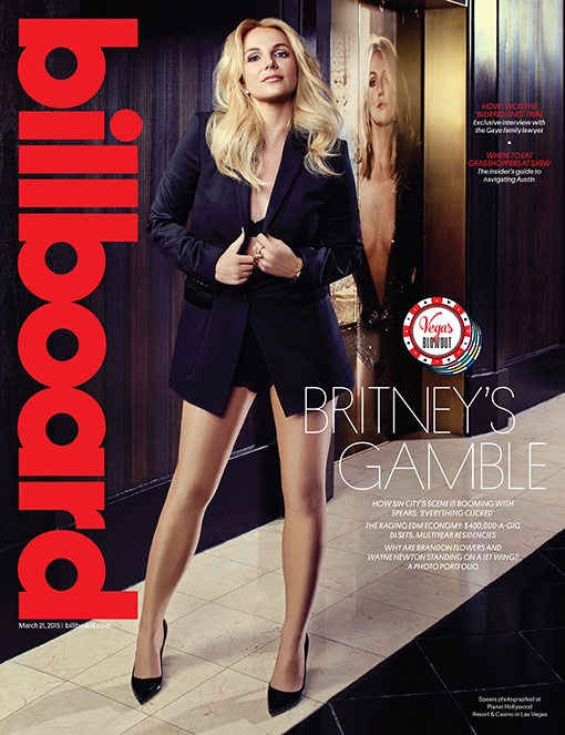 Britney Spears lands the March 21, 2015, cover from Billboard Magazine.