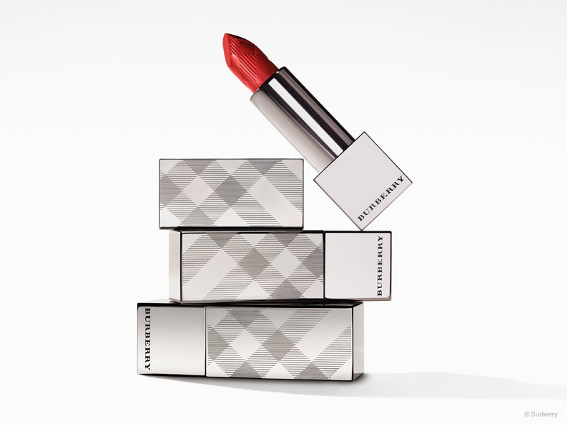 A look at the packaging for Burberry Kisses lipstick line.