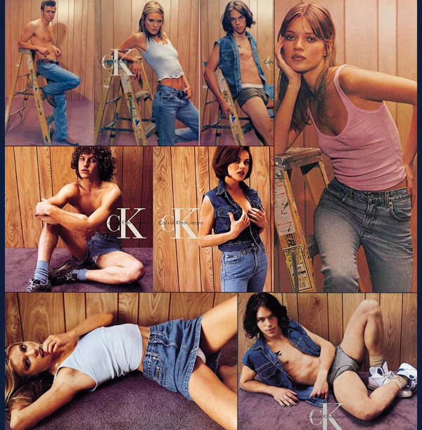 For fall-winter 1995, a Calvin Klein advertising campaign photographed by Steven Meisel went under fire for what many people thought as promoting