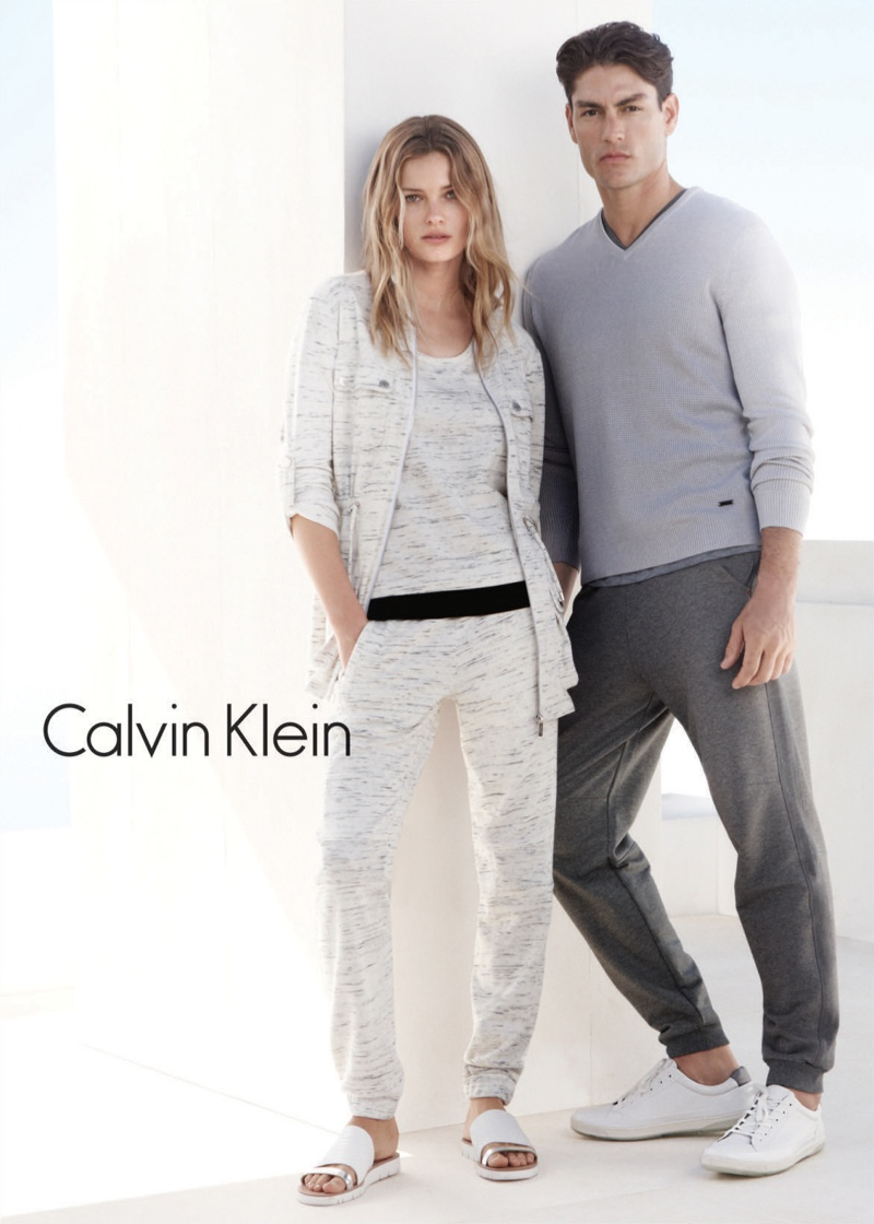 Casual basics at their finest are showcased for Calvin Klein White Label's spring ads.