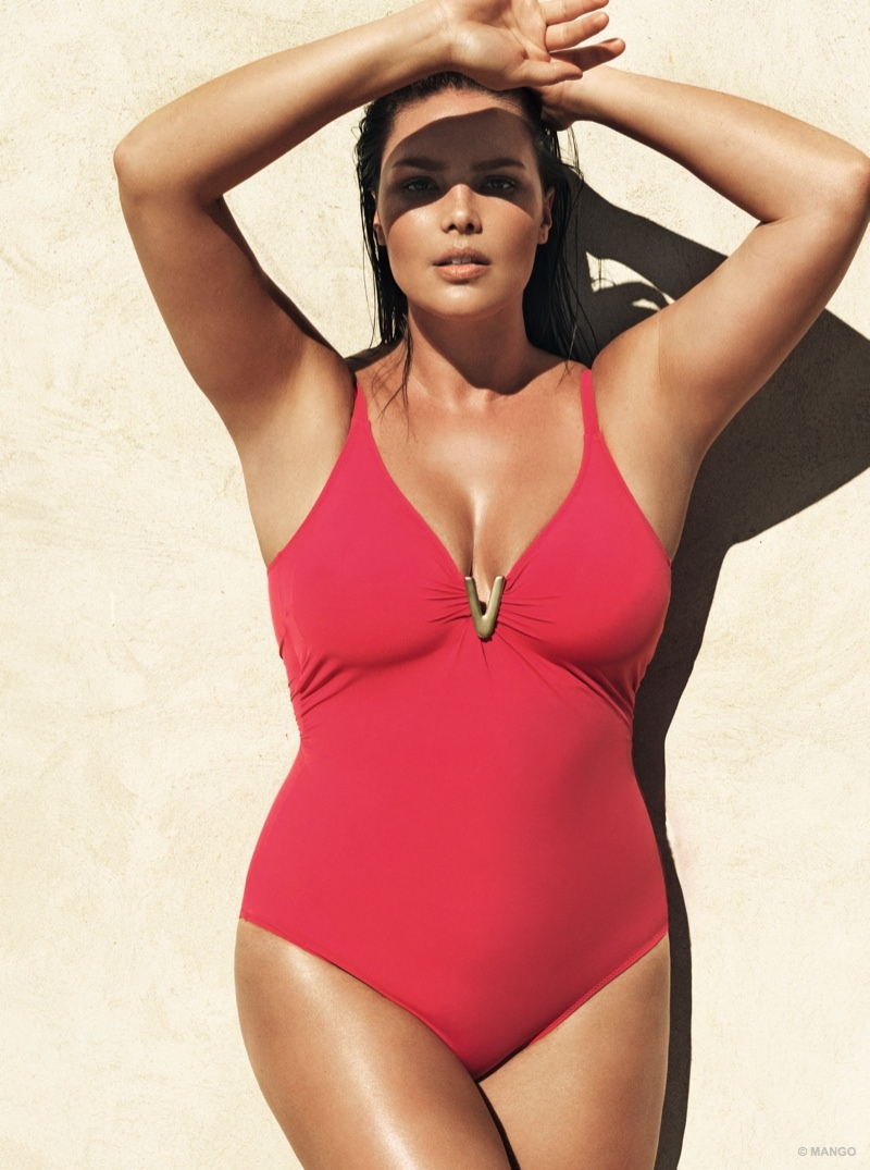 This is Violeta by Mango's first swimsuit collection.