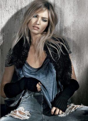 Candice Swanepoel Rocks Winter White for Osmoze Ads