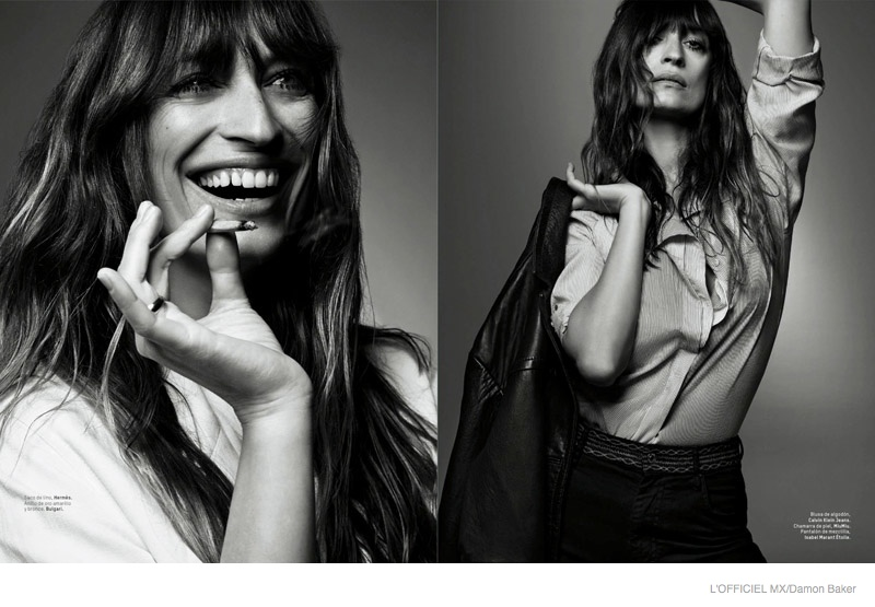 Caroline is all smiles in one image while exuding French cool in another for L'Officiel Mexico.