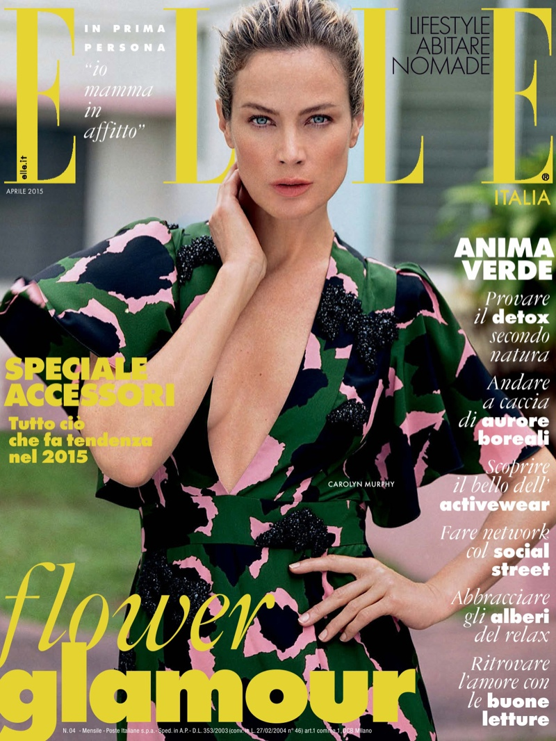 Carolyn Murphy lands the April 2015 cover of Elle Italia photographed by Matt Jones.